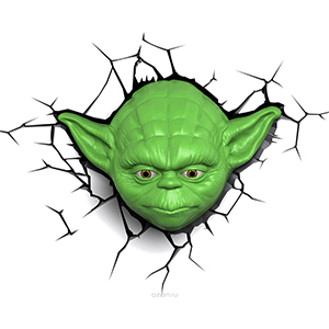 "Ночник с 3D ""Star Wars"" Йода"