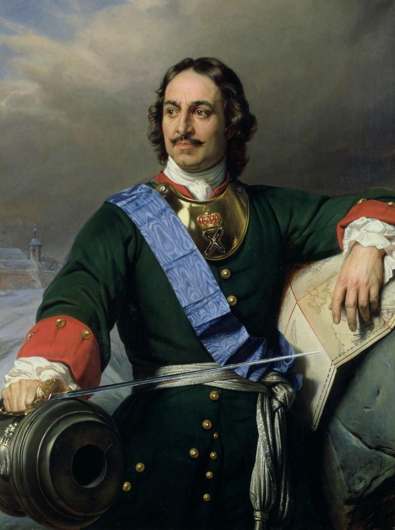 Портрет Петра I.  Художник: Поль Деларош, 1838