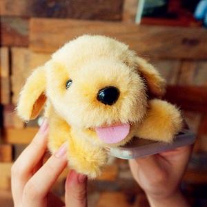 Плюшевый чехол-кукла для телефона Щенок - обзор - купить