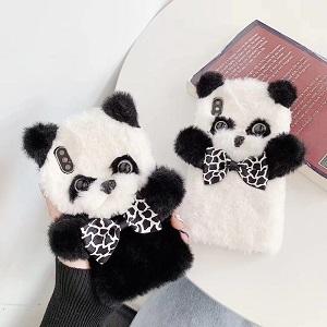 Зимний чехол для телефона - Пушистая панда - обзор - купить