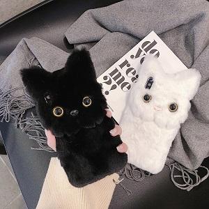 Пушистый чехол для телефона с котом - обзор - купить