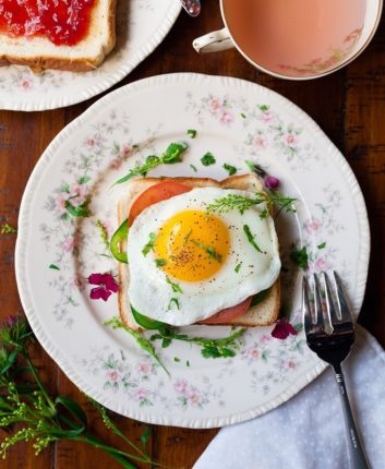 Рецепт: яичница-глазунья