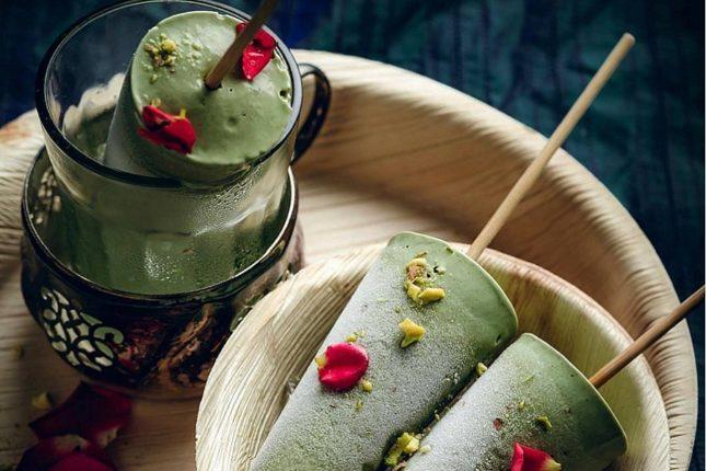 Мороженое из зеленого чая Матча - рецепт