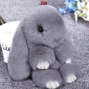 Меховой кролик брелок - купить