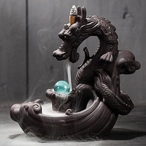 Дракон с хрустальным шаром - благовония - обзор - купить
