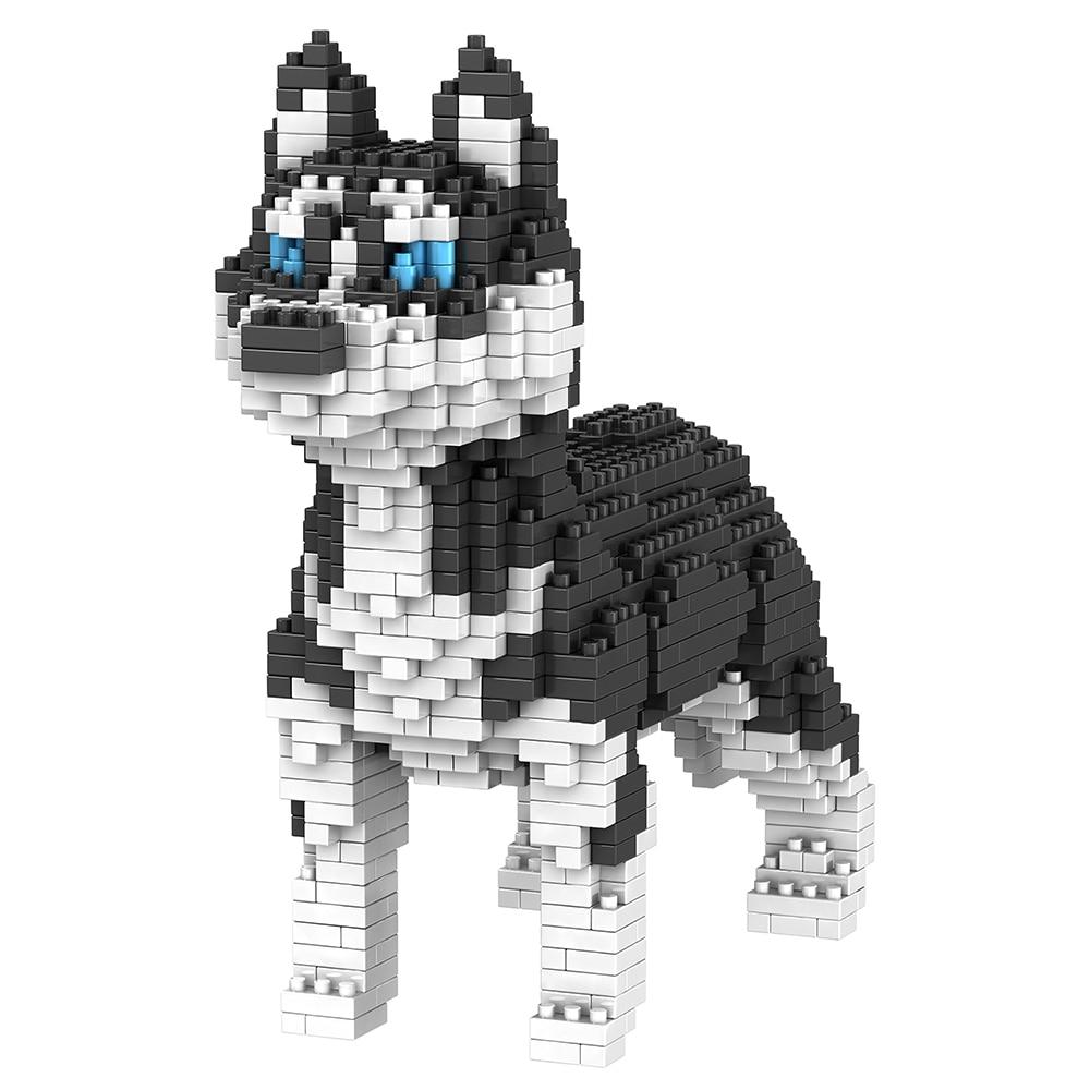 Объемный 3D конструктор Снежные псы - хаска Тедди - обзор - купить