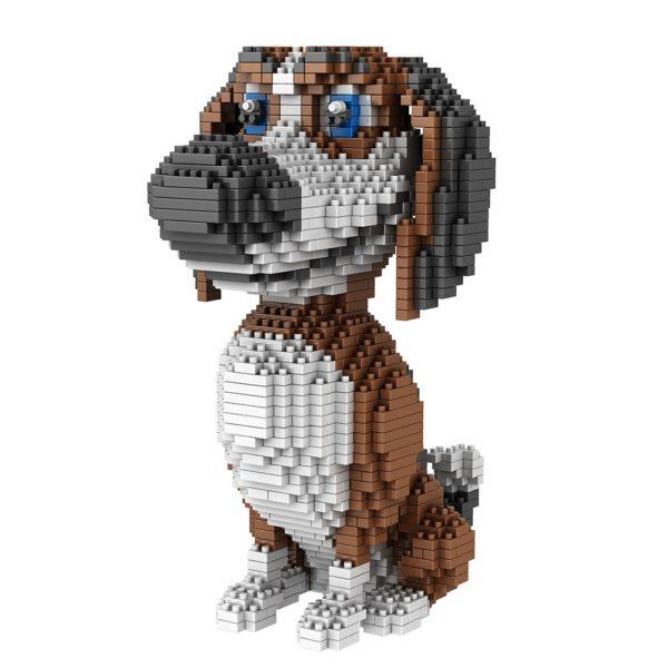 Объемный 3D конструктор собака Бигль - обзор - купить