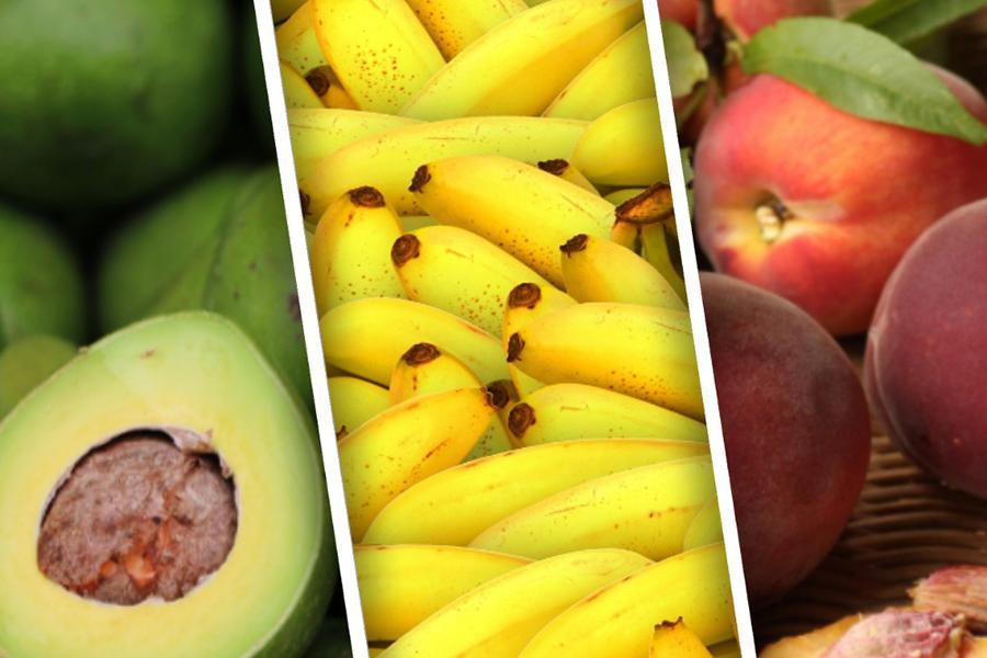 Рецепт бананового смузи с персиком и авокадо